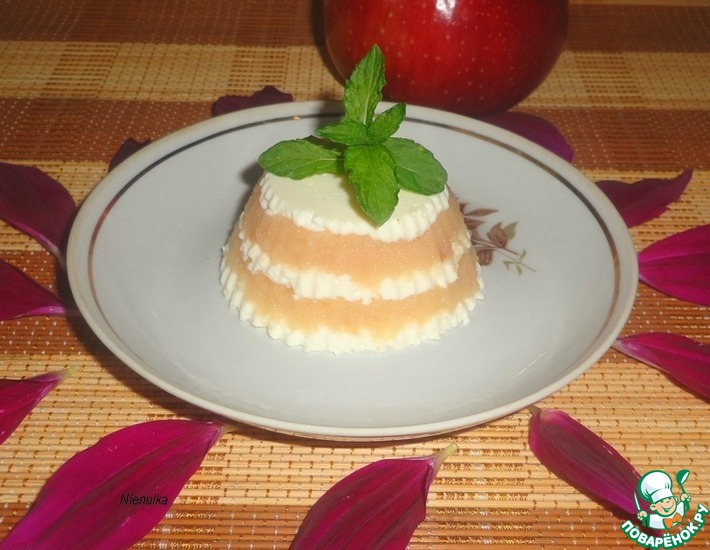 Рецепт: Яблочно-творожный десерт