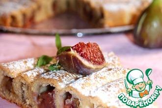 Рецепт: Кольцевой пирог с яблоками и инжиром
