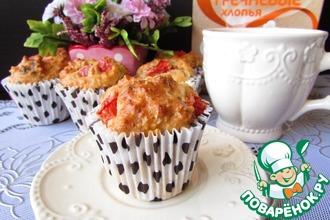Рецепт: Кексы с помидорами, фетой и гречневыми хлопьями
