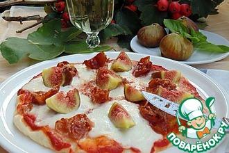 Рецепт: Пицца с инжиром и прошутто