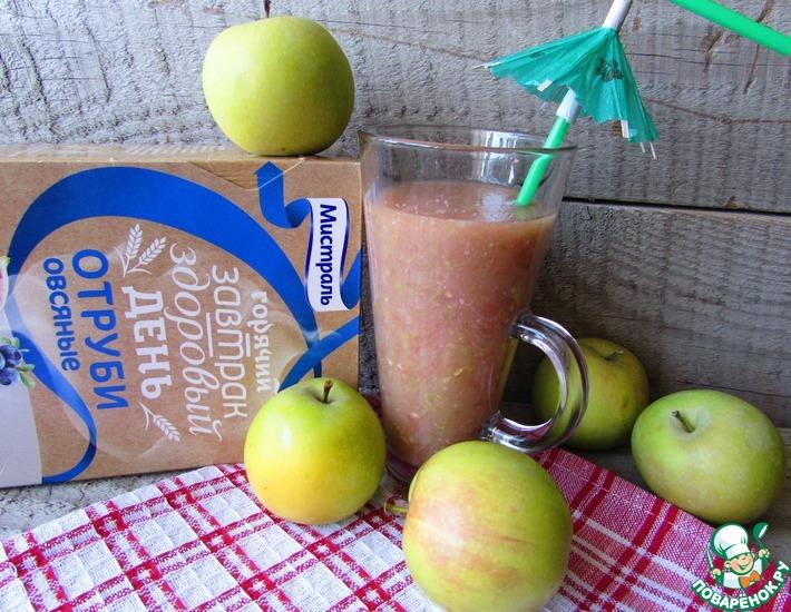 Рецепт: Яблочно-грейпфрутовый смузи