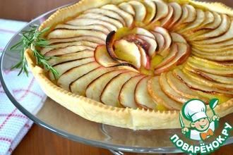 Рецепт: Французский яблочный пирог с розмарином