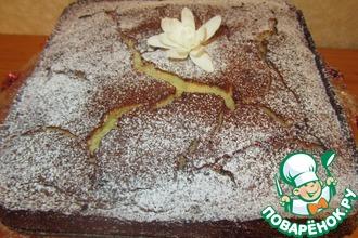 Рецепт: Пирог с карамелизированной грушей