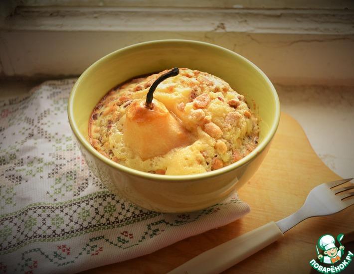 Рецепт: Грушевый десерт с орехами и карамельным соусом
