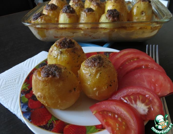 Рецепт: Фаршированная картошка