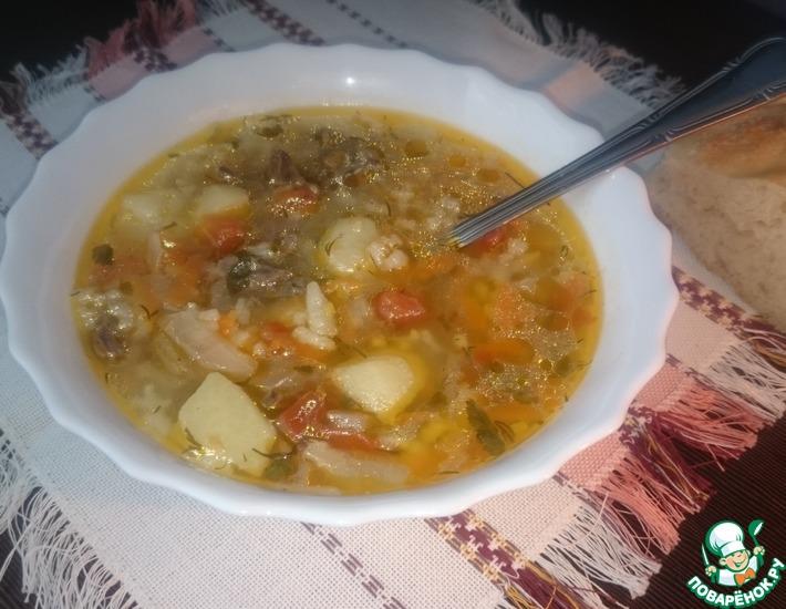 Рецепт: Суп с куриными сердечками