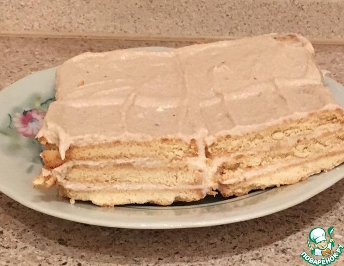Рецепт: Творожно-банановый торт за 5 минут