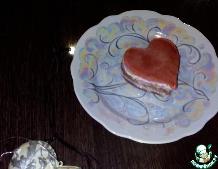 Рецепт: Шоколадно-вишневое пирожное Для любимого