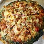 Зелёная пицца без теста