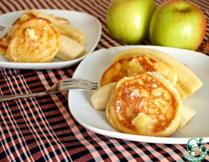 Рецепт: Оладьи из рикотты с медовым маслом