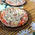 Белковая пицца на тесте из куриного филе