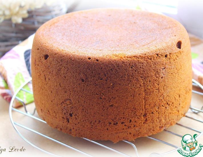медовый бисквитный торт рецепт видео