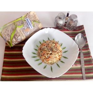 Жареный рис с кетой