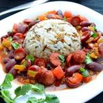 Рис с фасолью по-каджунски
