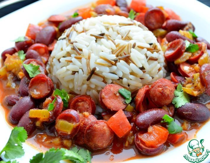 Рецепт: Рис с фасолью по-каджунски