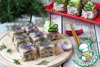 Рецепт: Праздничная закуска А-ля суши