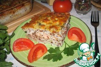Рецепт: Рисовая запеканка с лососевыми молоками