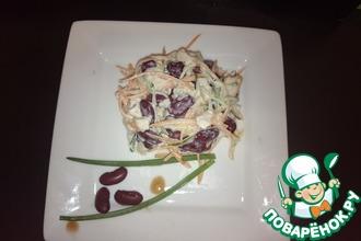 Рецепт: Салат с копчёной куриной грудкой и огурцом