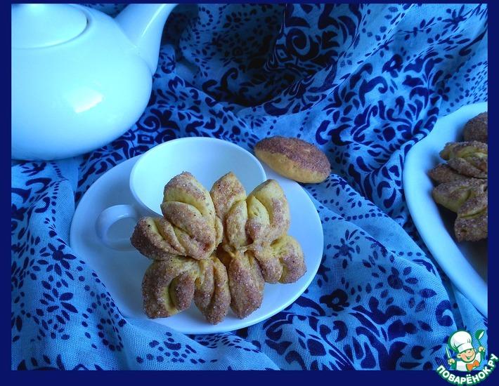 Рецепт: Тыквенно-коричное печенье Хризантемы