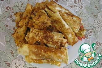 Рецепт: Закусочные сырные палочки