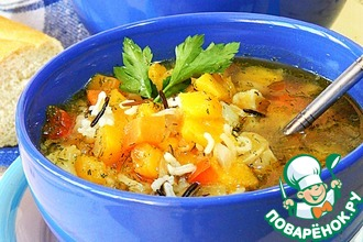 Рецепт: Густой вегетарианский суп