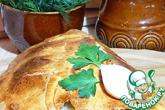 Рецепт: Пирог на сметане с тунцом и рисом