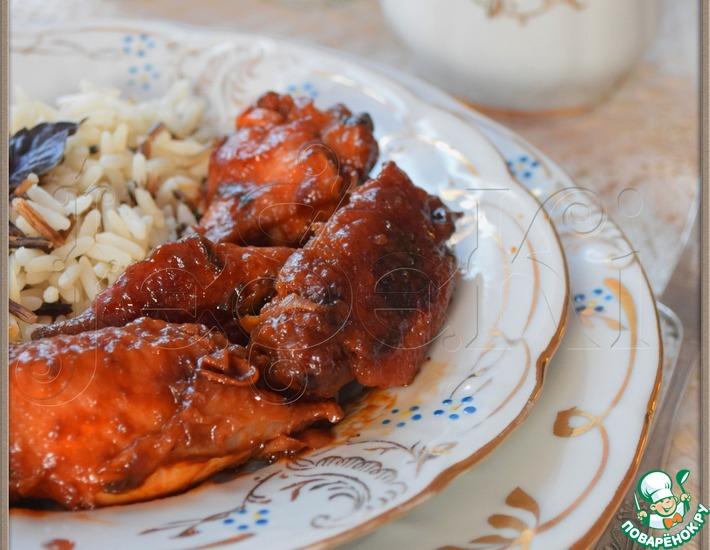 Рецепт: Куриные крылышки в маринаде в мультиварке