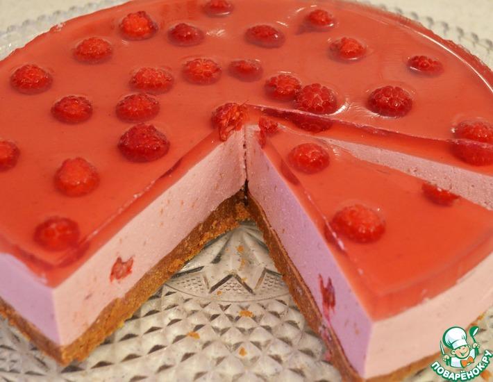 Рецепт: Творожно-малиновый десерт