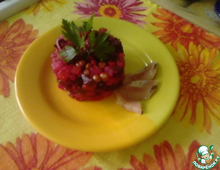 Рецепт: Винегрет с печёными овощами