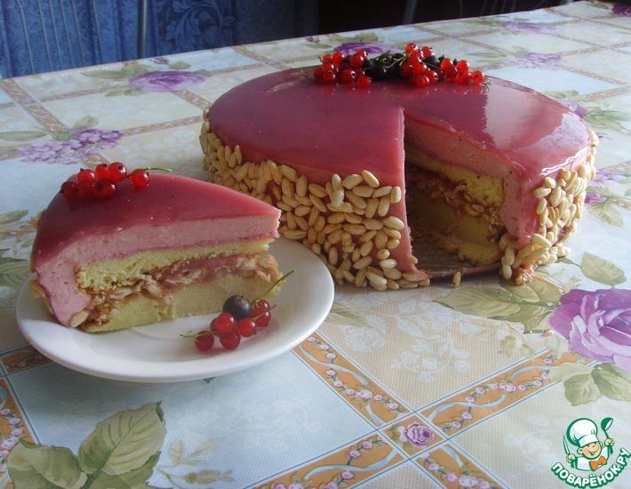 Рецепт: Смородиновый торт с «хрустинкой»