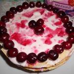 Вишневый торт на сковороде