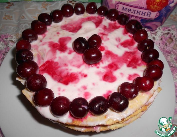 Рецепт: Вишневый торт на сковороде