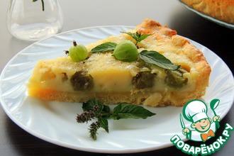 Рецепт: Пирог с крыжовником и яблоком