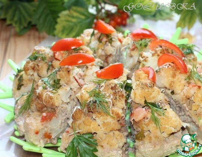 Рецепт: Мясной торт с цветной капустой