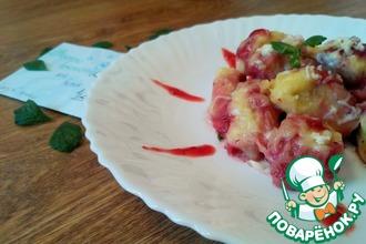 Рецепт: Творожные ньокки с клубничным соусом