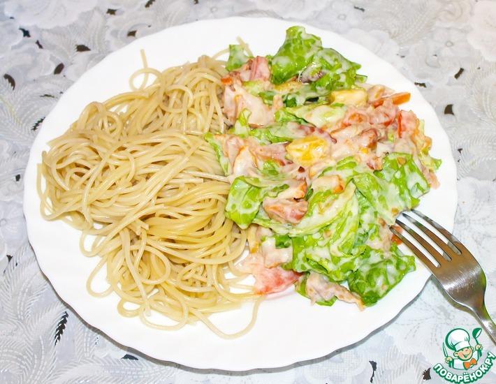 Рецепт: Салат «Сальваторе»
