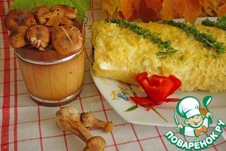 Рецепт: Рисовый рулет с грибами