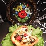Перец, фаршированный пшеном и овощами