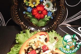 Рецепт: Перец, фаршированный пшеном и овощами