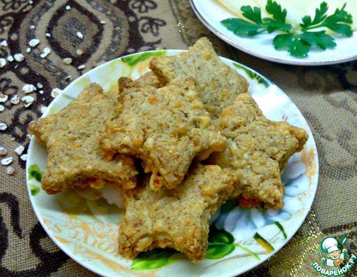 Рецепт: Сырное печенье 5 злаков