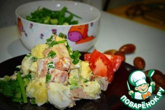 Рецепт: Теплый салат с картофелем и беконом