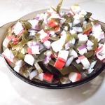 Простой салат с морской капустой