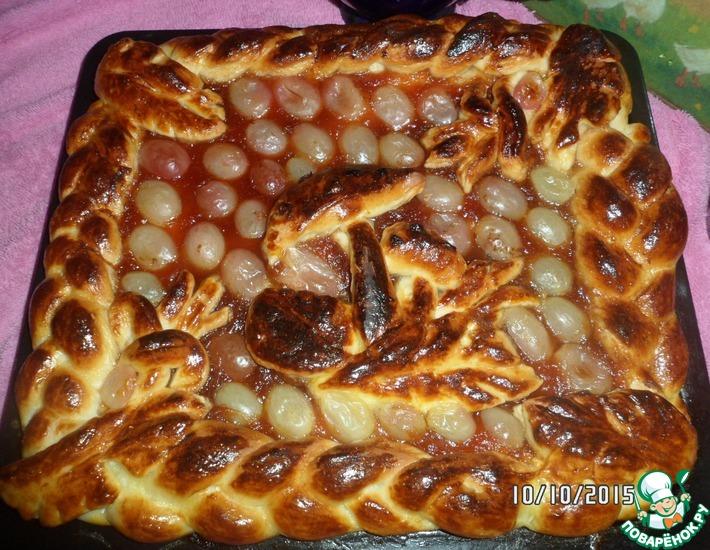 Рецепт: Пирог с овсяной мукой и яблочным повидлом