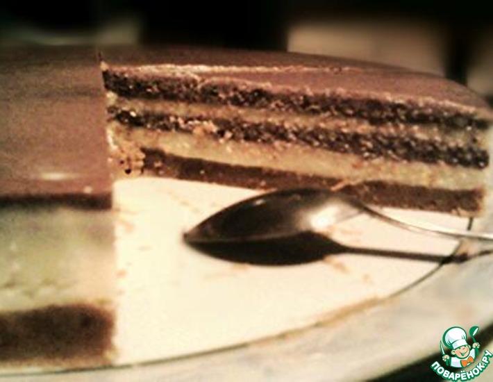 Рецепт: Шоколадно-апельсиновый чизкейк