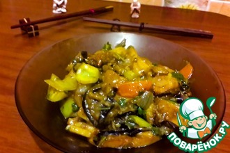 Рецепт: Баклажаны с картошкой по-китайски