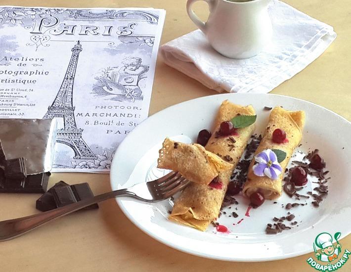 Рецепт: Французские блинчики с соусом Бешамель