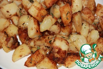 Рецепт: Печеный картофель без духовки