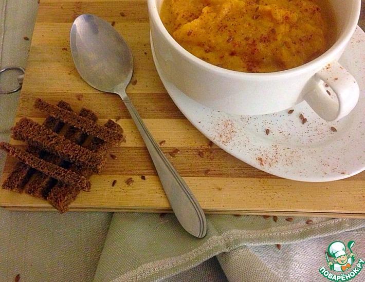 Рецепт: Тыквенный суп-пюре с сельдереем