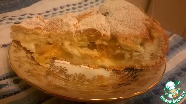 Цветочный яблочный пирог — 10
