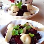 Салат из свеклы и жареного чеснока